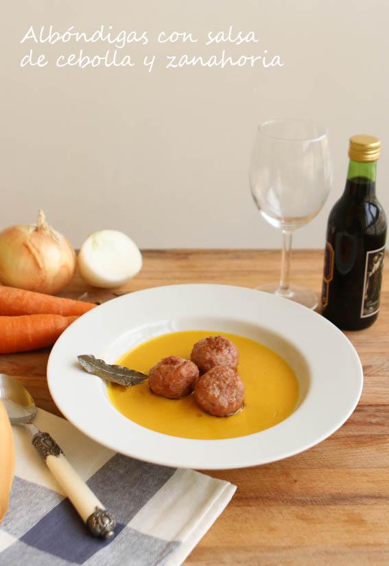 Albóndigas con salsa de cebolla y zanahoria 1