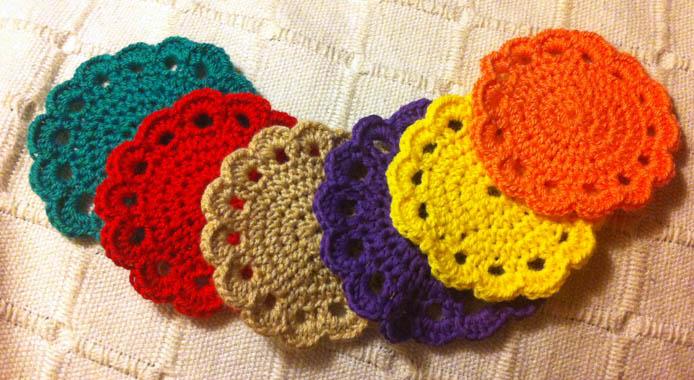 Posavasos de crochet imagui - Como hacer posavasos ...