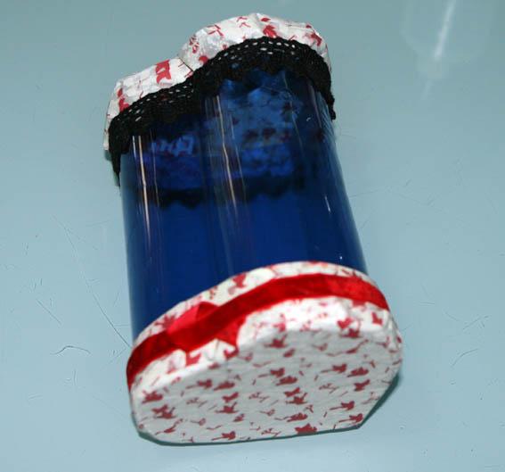 corazón botella plástico 49