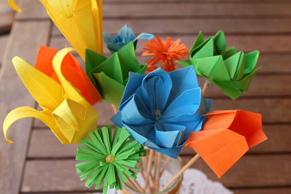 flores de papel 13