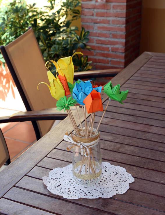 flores de papel 17