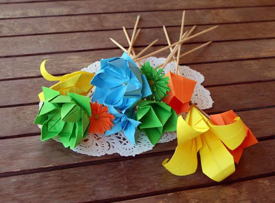 flores de papel 9