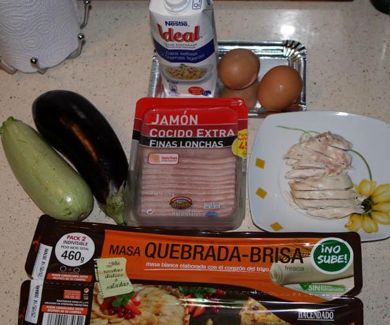 Quiche de calabacín y pollo 14