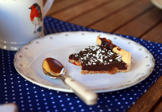 tarta masa quebrada y chocolate 12