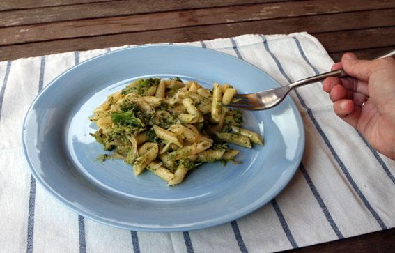Macarrones con brócoli 7