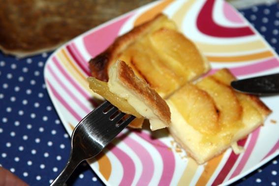 Tarta crema pastelera y manzana 1