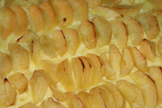Tarta crema pastelera y manzana 16