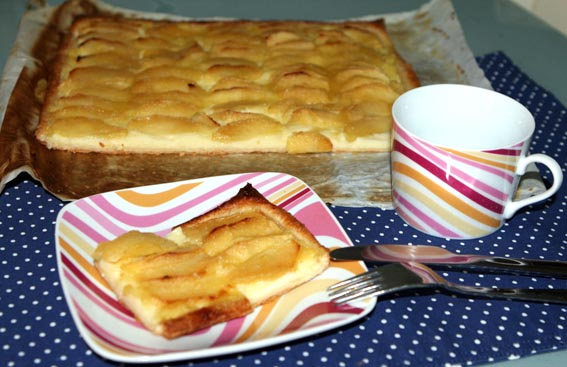 Tarta crema pastelera y manzana 24