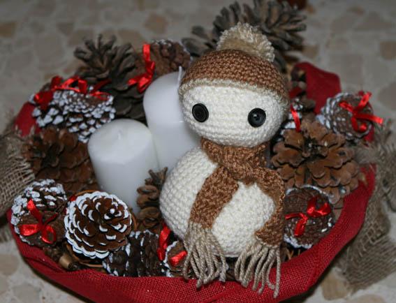 Muñeco de nieve amigurumi 21