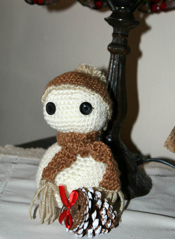 Muñeco de nieve amigurumi 6
