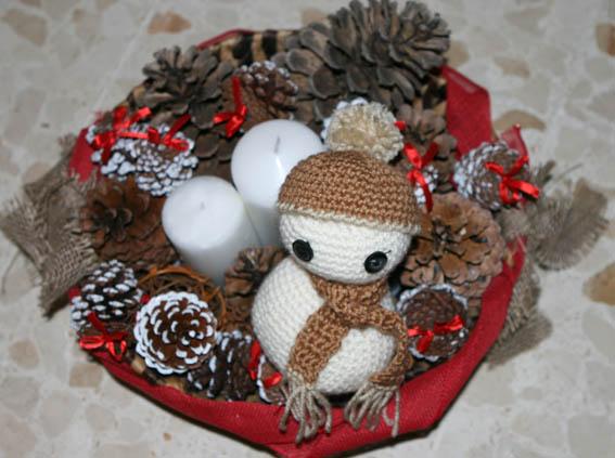 Muñeco de nieve amigurumi 7
