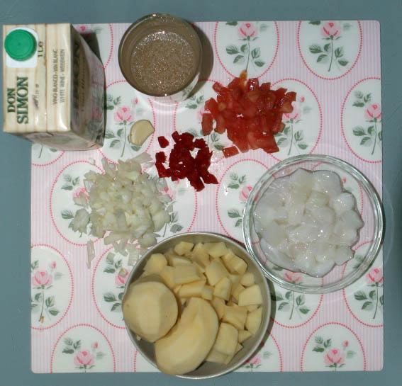 Patatas con chocos 7