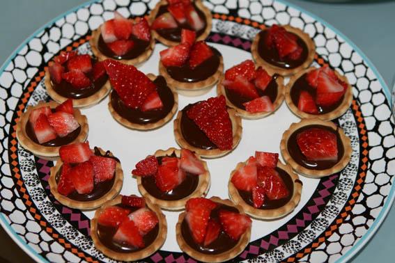 tartaletas de chocolate y fresas 11