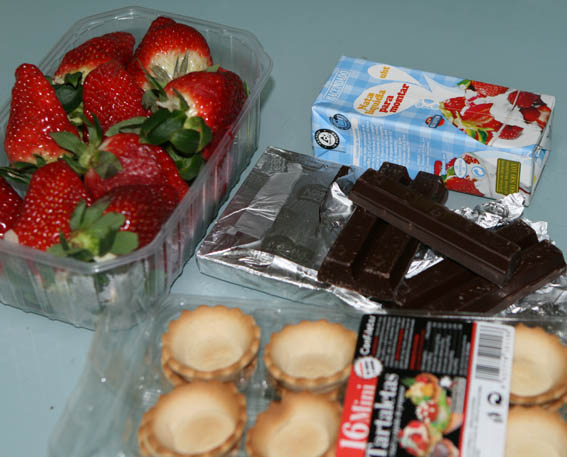 tartaletas de chocolate y fresas 9