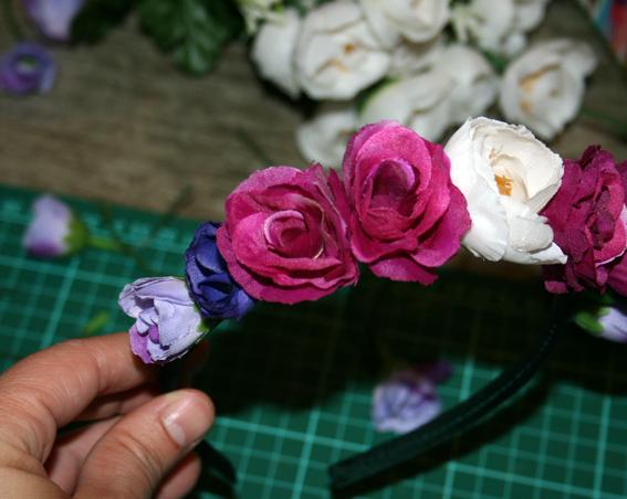 Diadema de flores 18