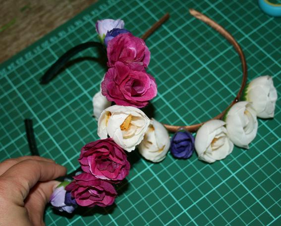 Diadema de flores 22