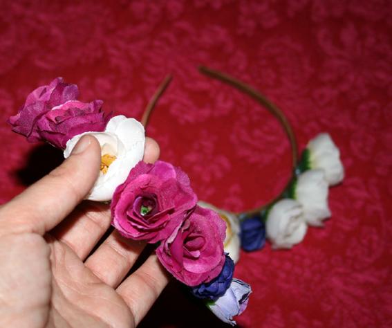 Diadema de flores 4