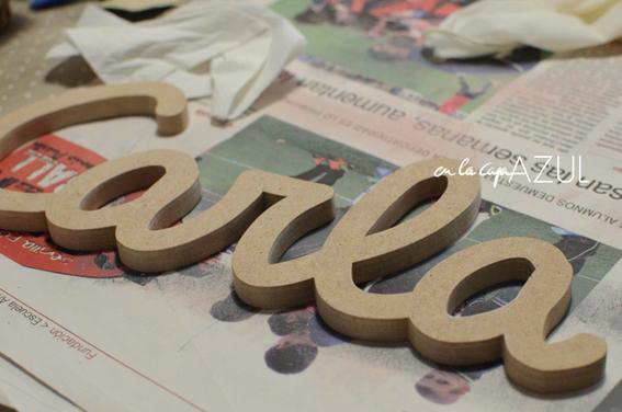 Letras de madera 10