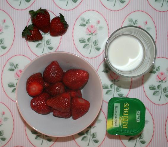 Smoothie de fresas 2