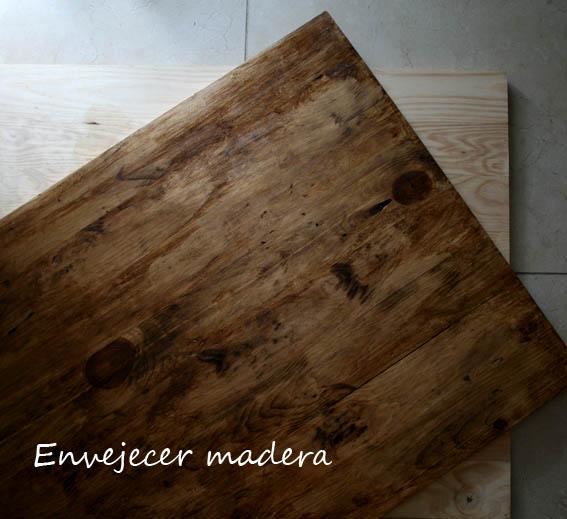 C mo envejecer madera mislaboresypunto - Como envejecer un mueble barnizado ...