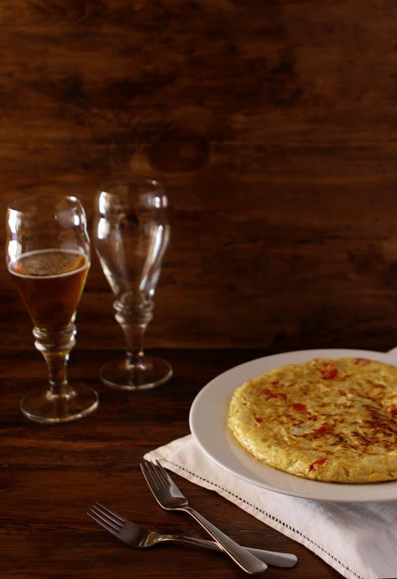 Tortilla de calabacín y tomates cherry 12