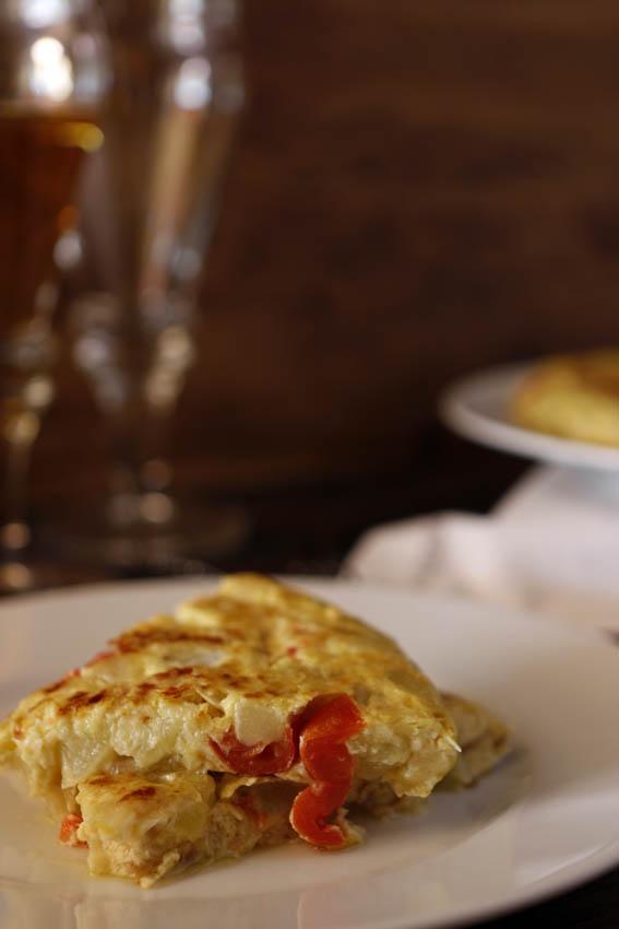 Tortilla de calabacín y tomates cherry 17