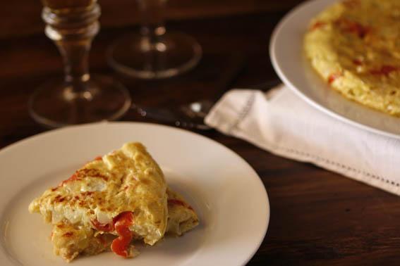 Tortilla de calabacín y tomates cherry 21