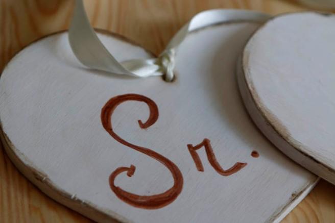 Corazones de madera para boda 5
