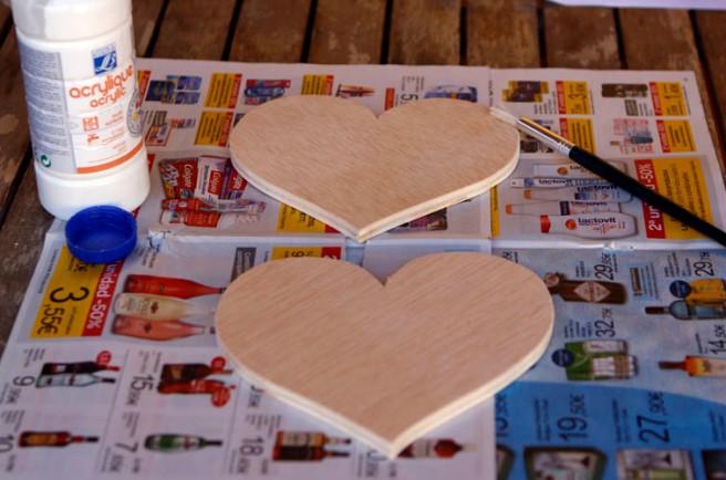 Corazones de madera para boda 8