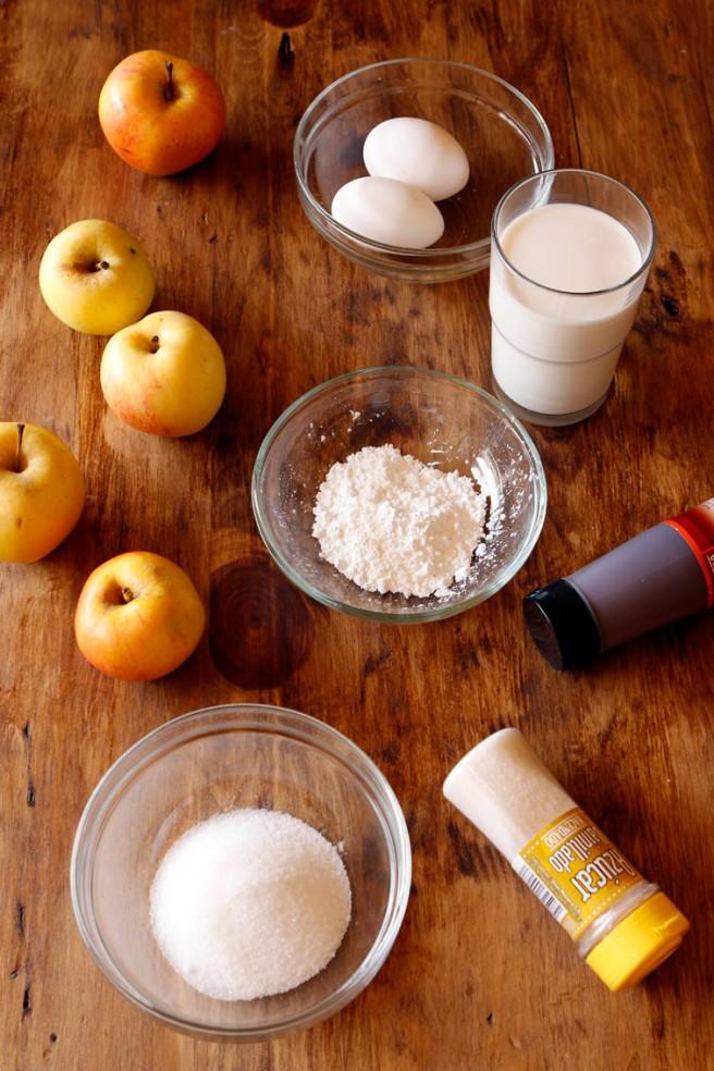 Flan de manzana 8