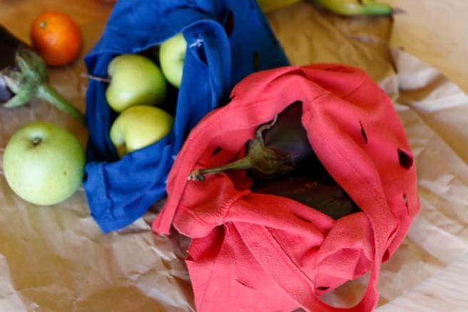 Bolsas con camisetas recicladas 40