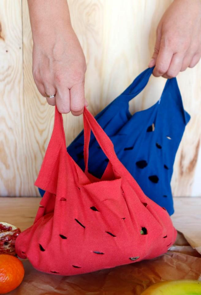 Bolsas con camisetas recicladas 45