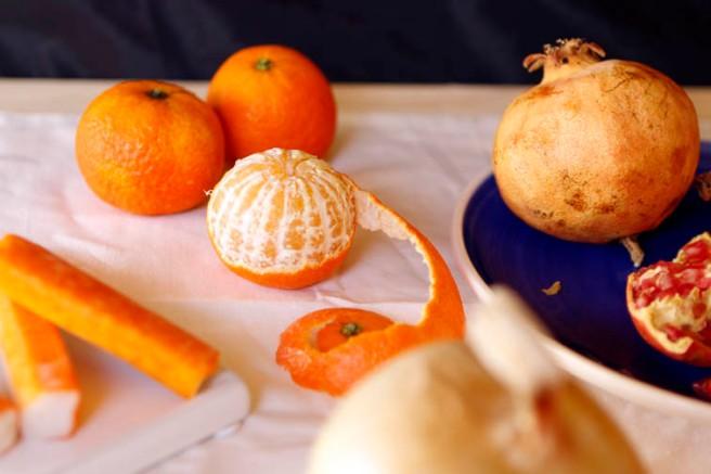 Ensalada con granada y naranja 11