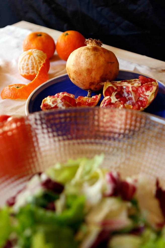 Ensalada con granada y naranja 14