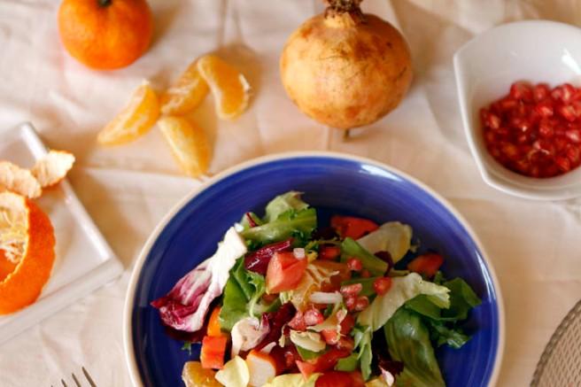 Ensalada con granada y naranja 21