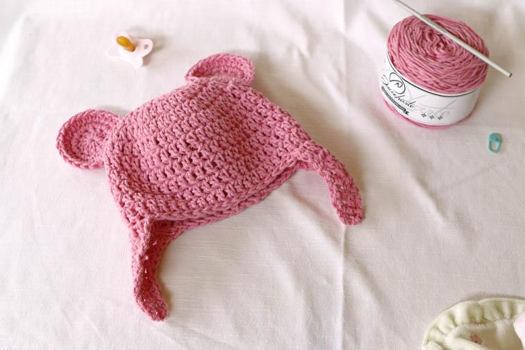 Gorro para bebé a crochet | Mislaboresypunto