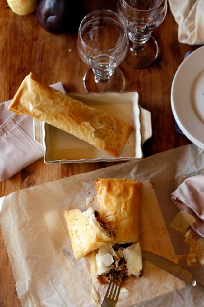 Pasta filo rellena de berenjena 42