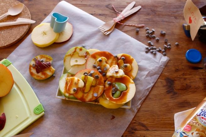 Manzanas de corazón 42