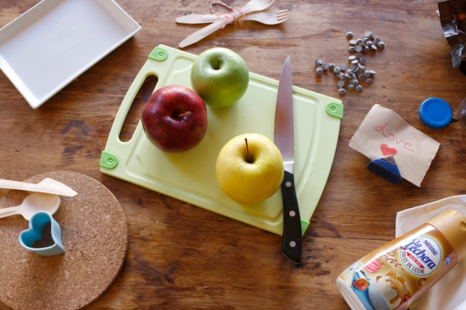 Manzanas de corazón 9