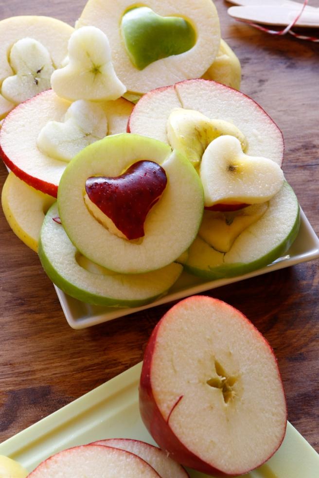 Manzanas de corazón 15