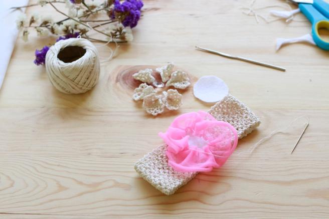 Cinta para bebés a crochet 11