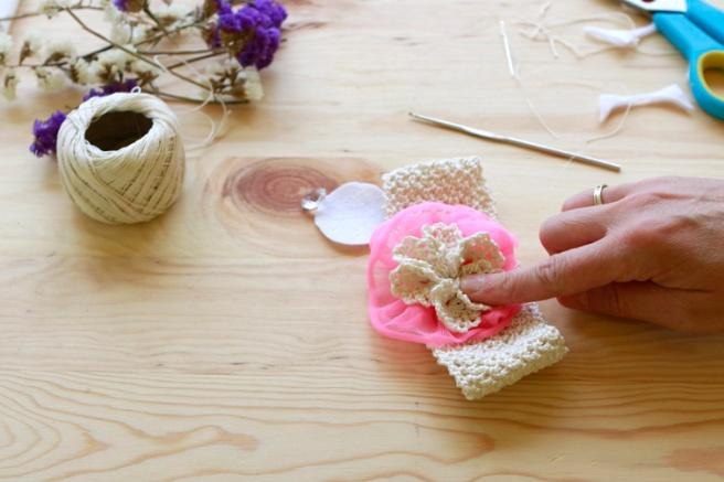 Cinta para bebés a crochet 14