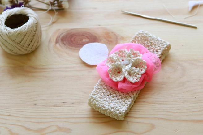 Cinta para bebés a crochet 15