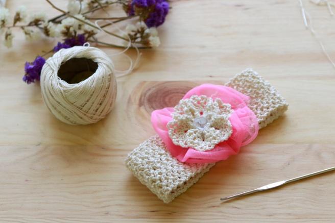 Cinta para bebés a crochet 17
