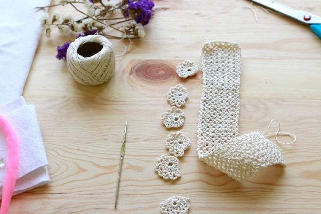 Cinta para bebés a crochet 3