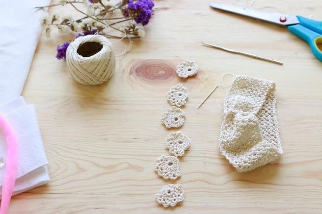 Cinta para bebés a crochet 5