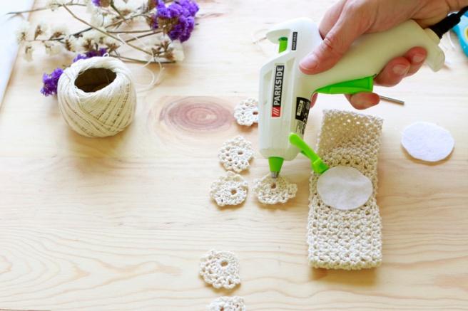 Cinta para bebés a crochet 8