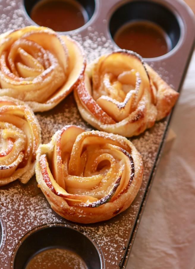Rosas de hojaldre y manzana 29