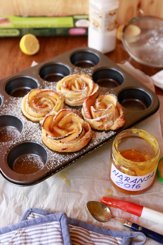 Rosas de hojaldre y manzana 32