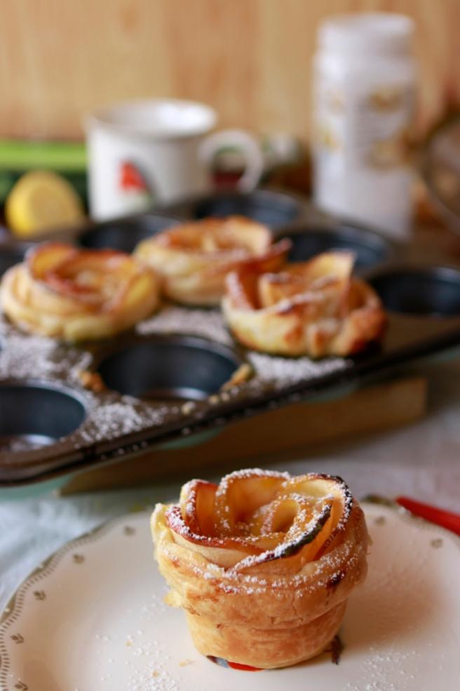 Rosas de hojaldre y manzana 43